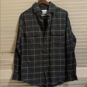 Goodfellow & Co NWOT Bluish Grey and Gold Flannel